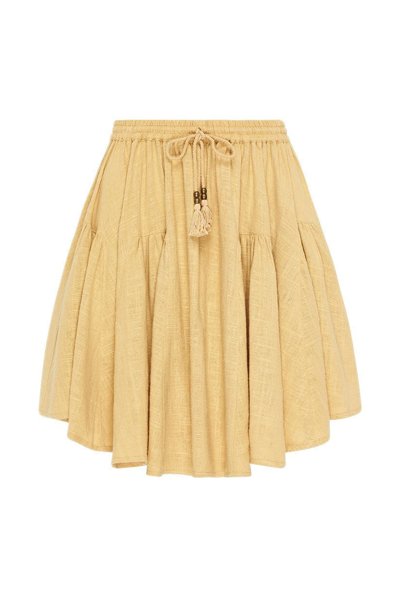 Spell Bella Mini Skirt Caramel