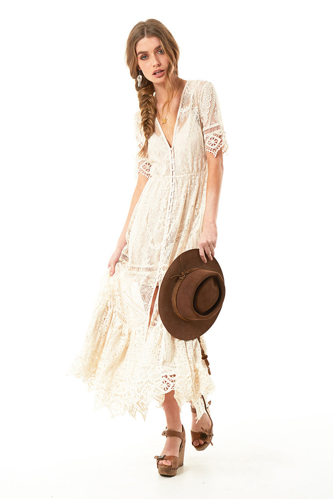 Spell Rhiannon Gown Cream – Call Me The Breeze