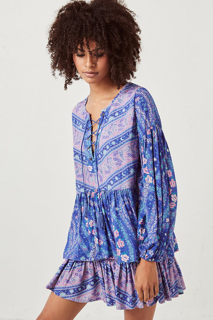 Spell City Lights Blouse Indigo