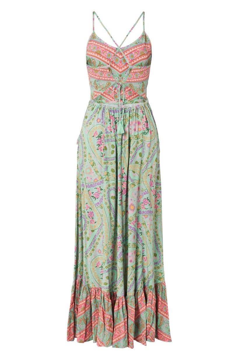 Spell City Lights Strappy Maxi Sage