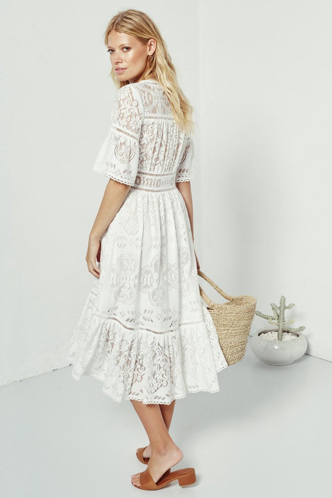 Spell Clover Lace Gown White – Call Me The Breeze