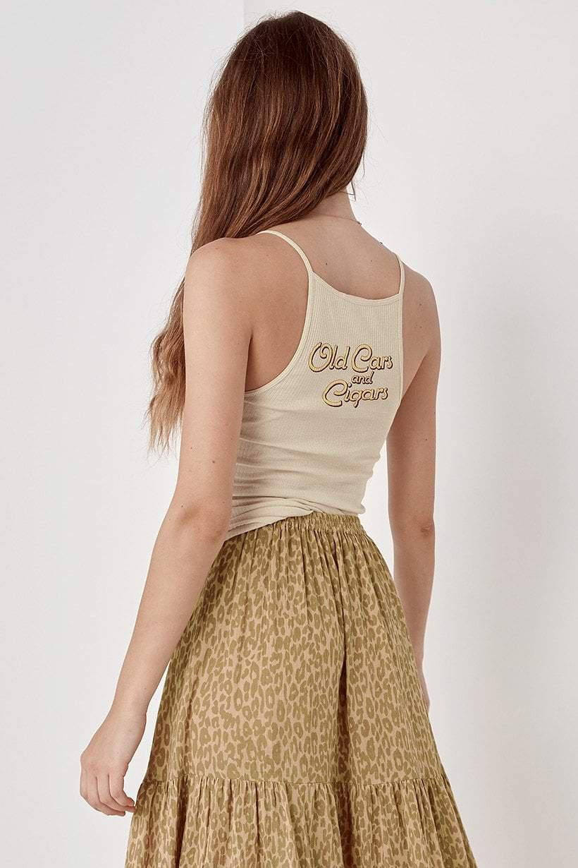 Spell Cuba Ribbed Tank White