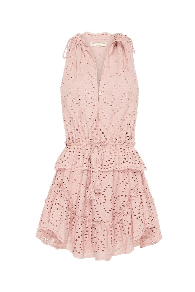 Spell Fairytale Anglaise Party Dress Dirty Rose