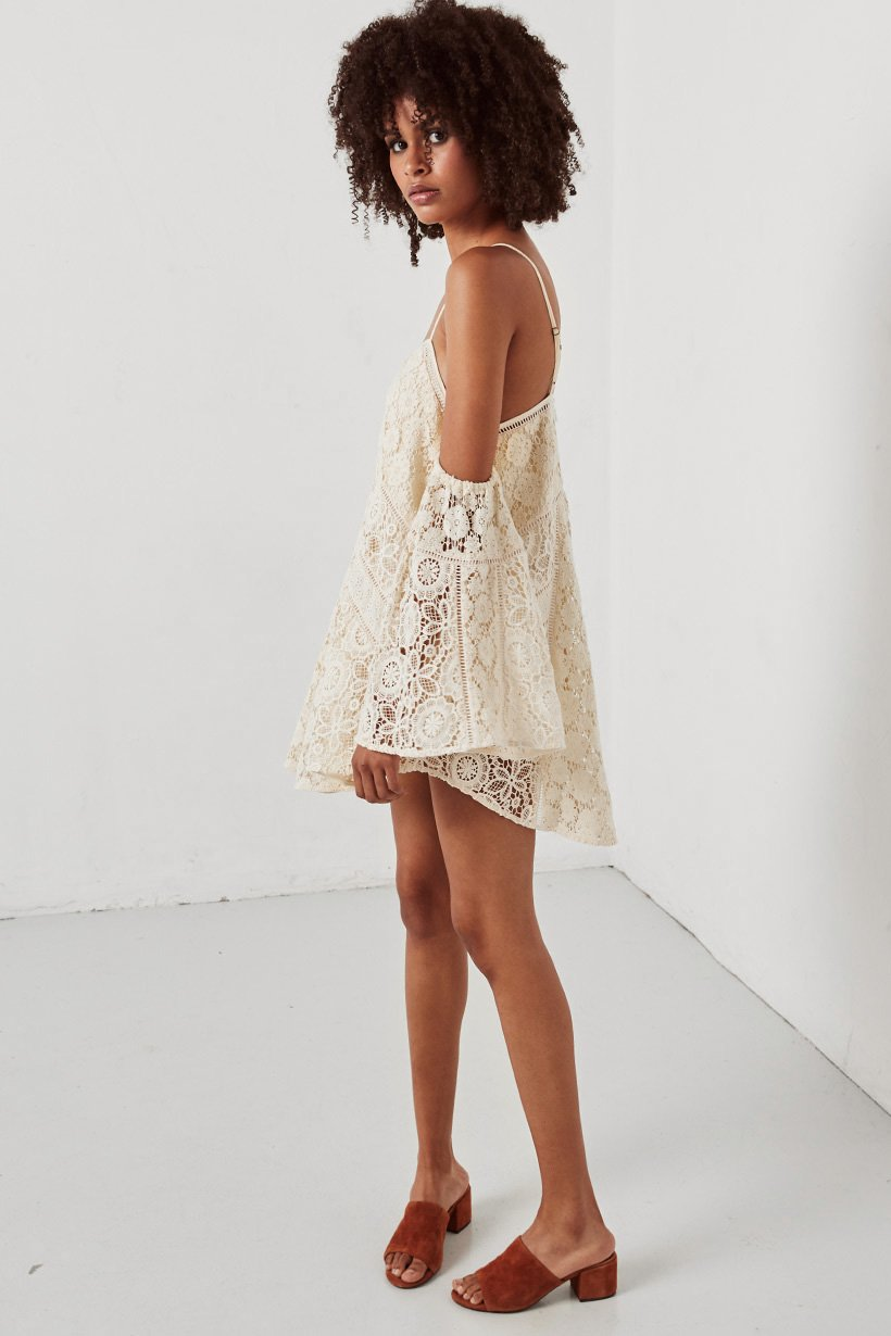 Spell Imperial Lace Mini Dress