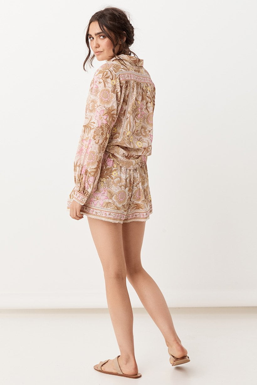 Spell Jungle Flutter Shorts Cream