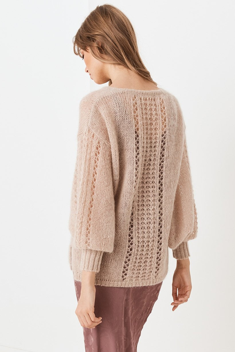 Spell Knit V Neck Jumper Stone