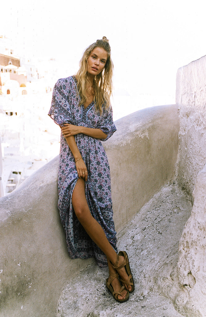 Spell Kombi Folk Dress Lavender - Call Me The Breeze - 4