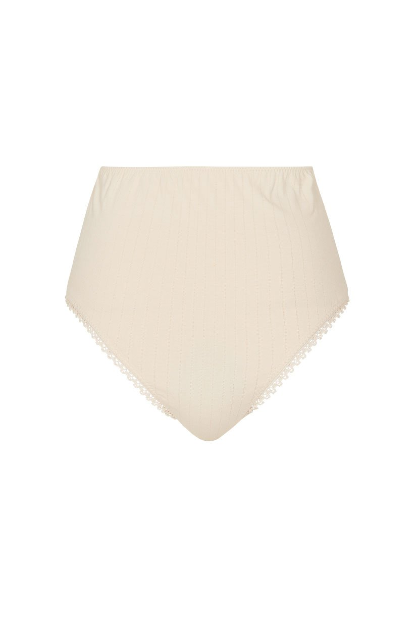Spell Lana Organic Cotton High Waisted Bloomers Cream