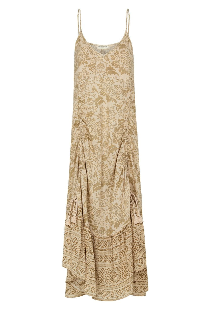 630d6418dc Spell Lioness Rouched Strappy Dress Smoke ...