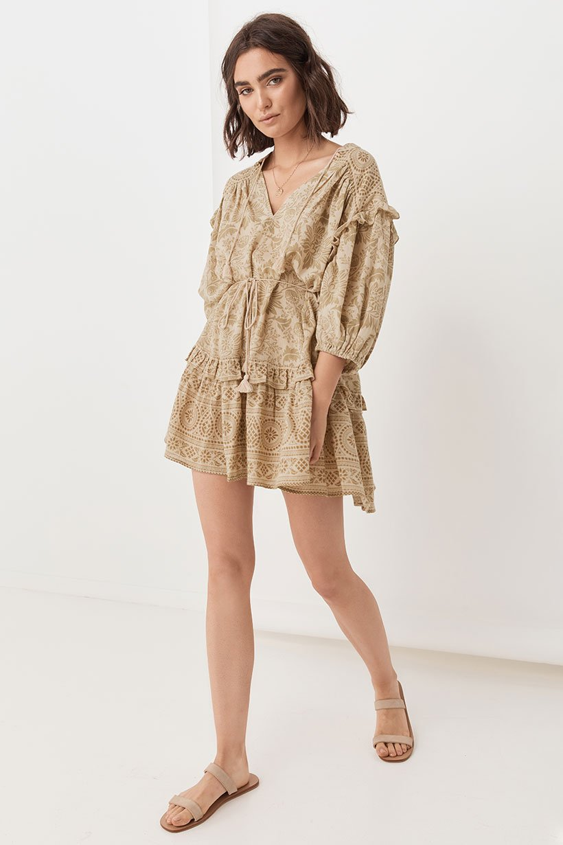 Spell Lioness Tunic Dress Smoke