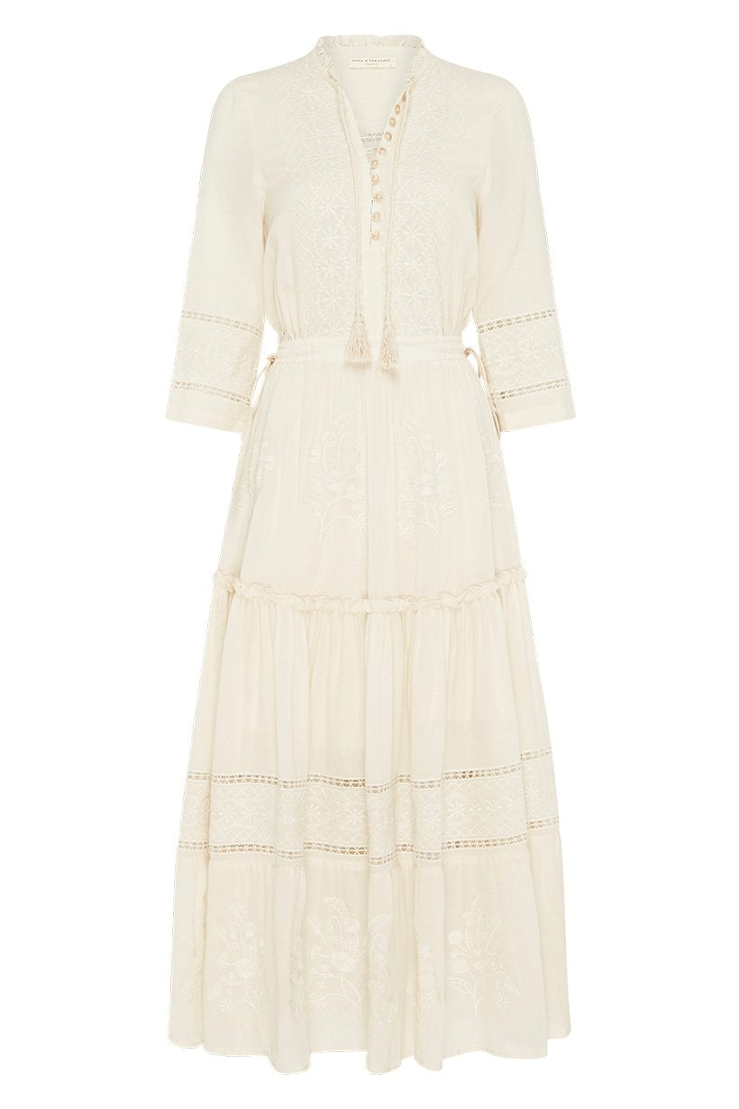 Spell Loves Me Not Garden Party Dress Cream