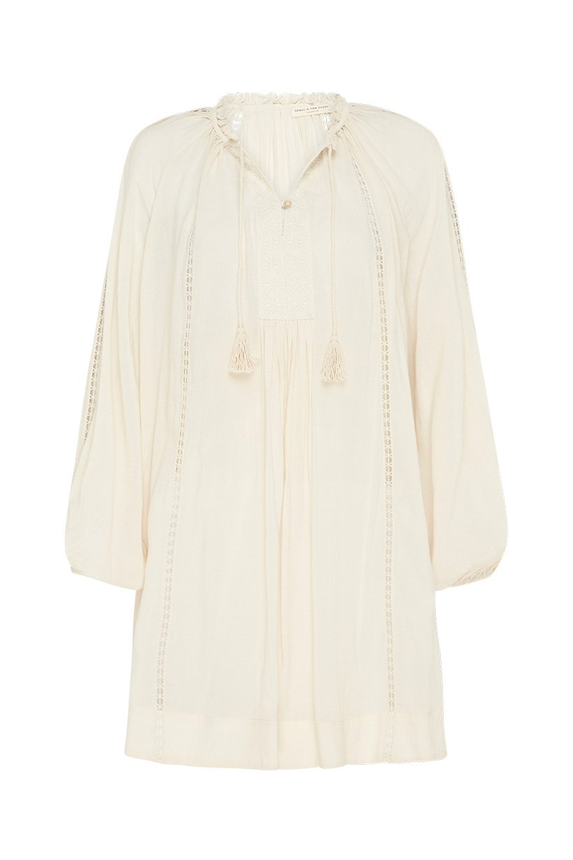 Spell Loves Me Not Tunic Dress Cream