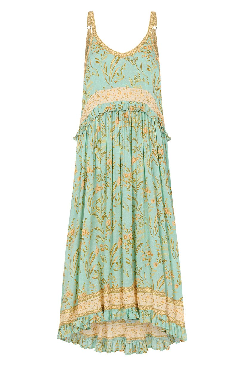 Spell Maisie Strappy Dress Vintage Turquoise