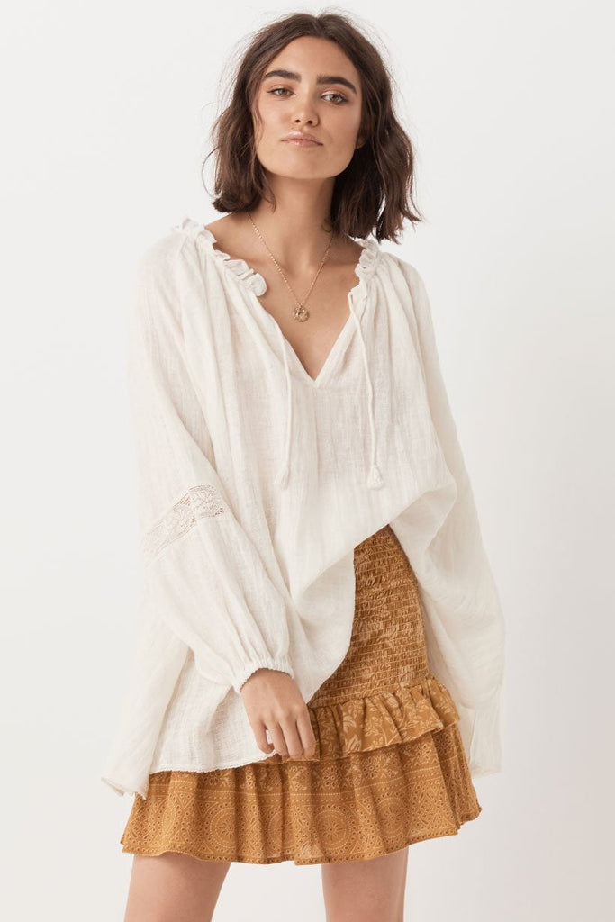 Spell Milla Blouse Off White