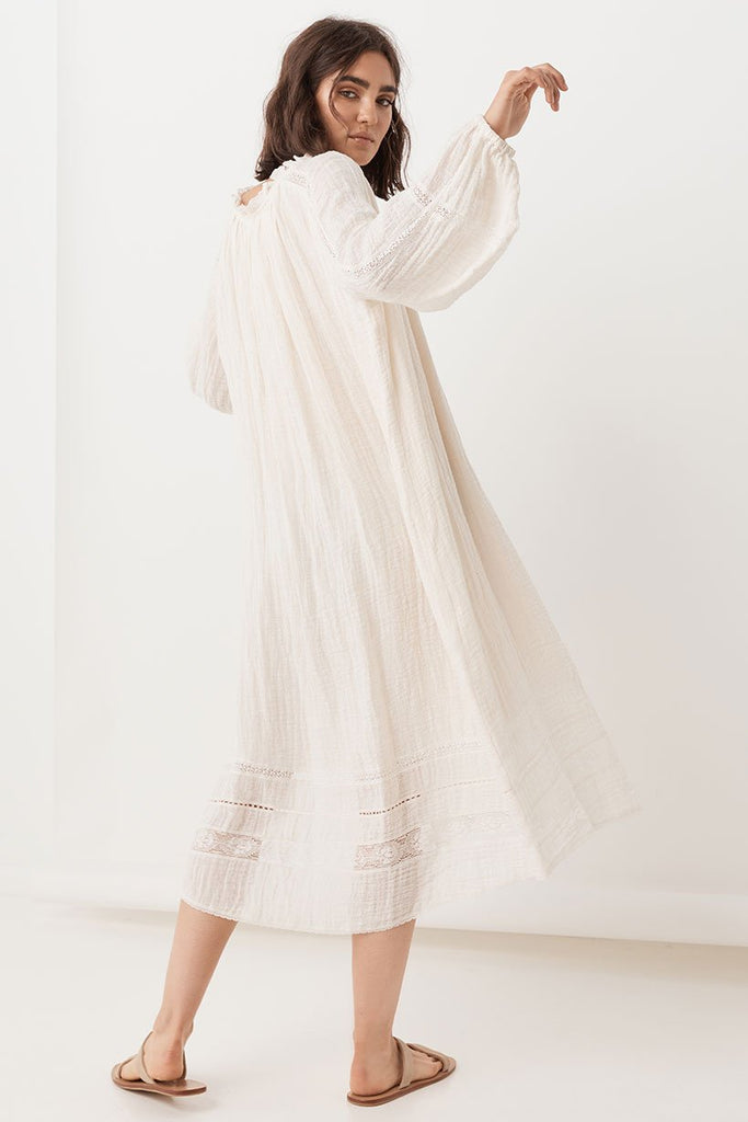 Spell Milla Gown Off White