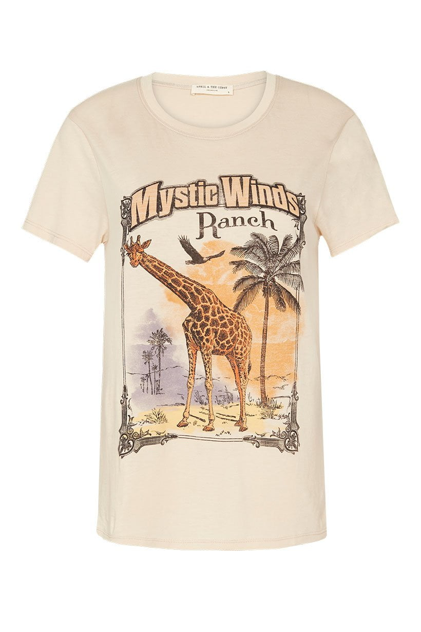 Spell Mystic Winds Organic Tee Cream