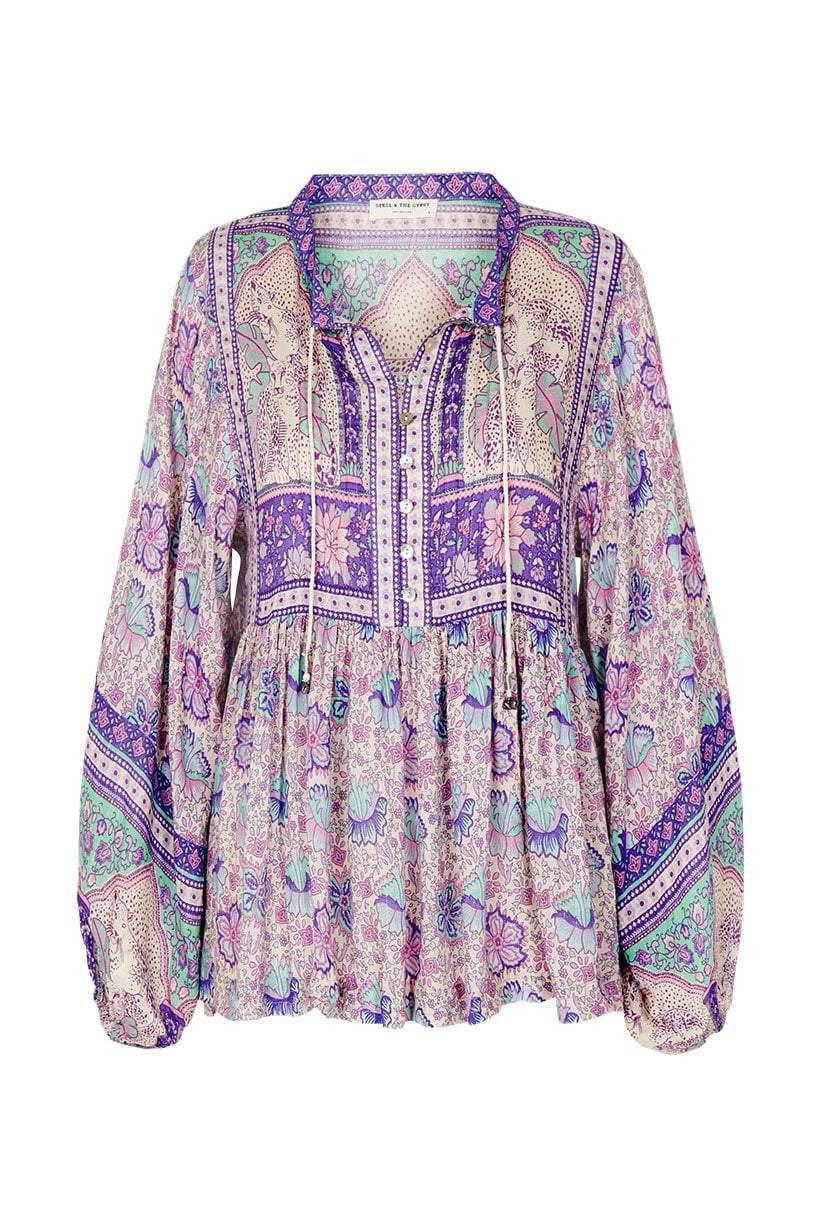 Spell Poinciana Blouse Lilac