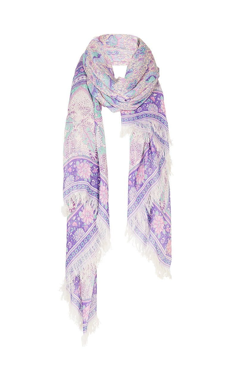 Spell Poinciana Travel Scarf Lilac