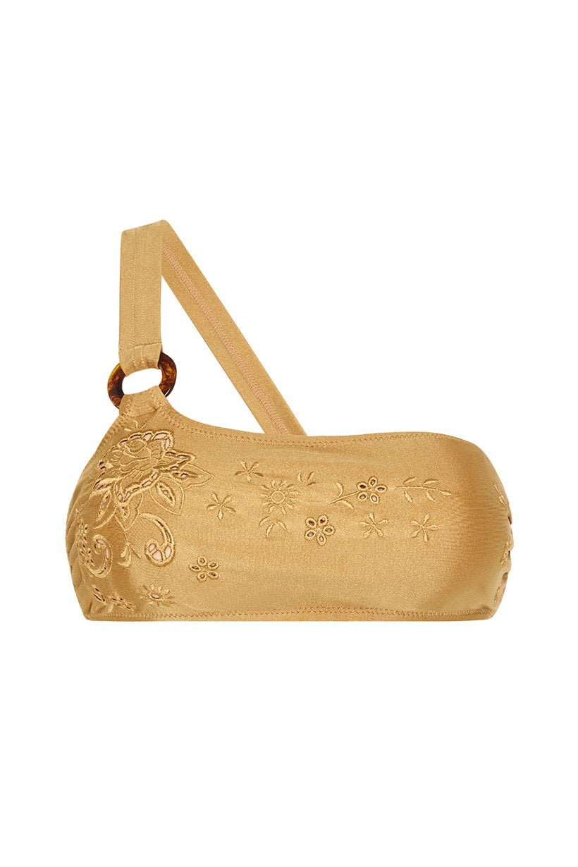 Spell Tyler One Shoulder Bandeau Gold
