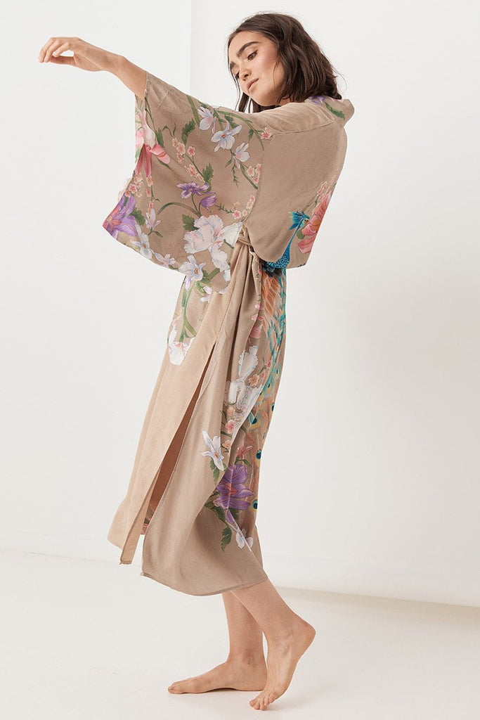 Spell Waterfall Maxi Robe Taupe