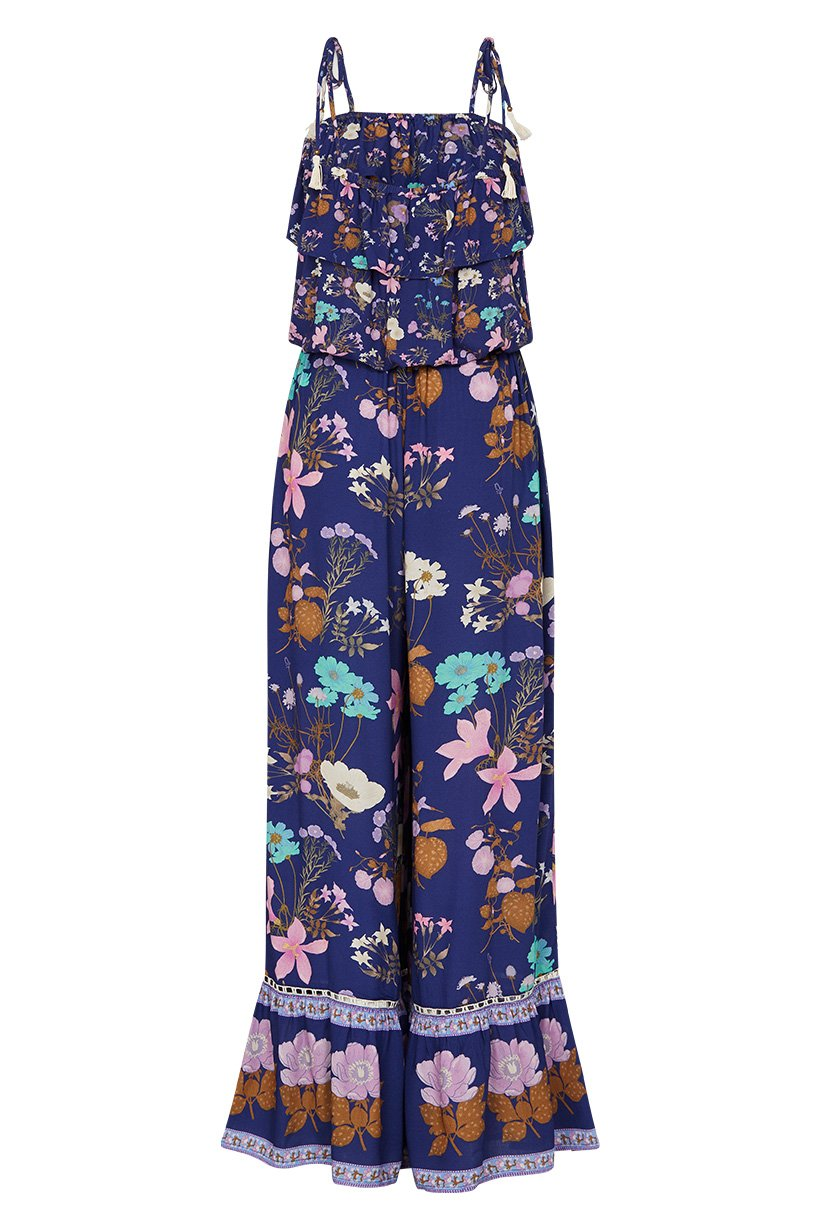 Spell Wild Bloom Strappy Pantsuit Navy