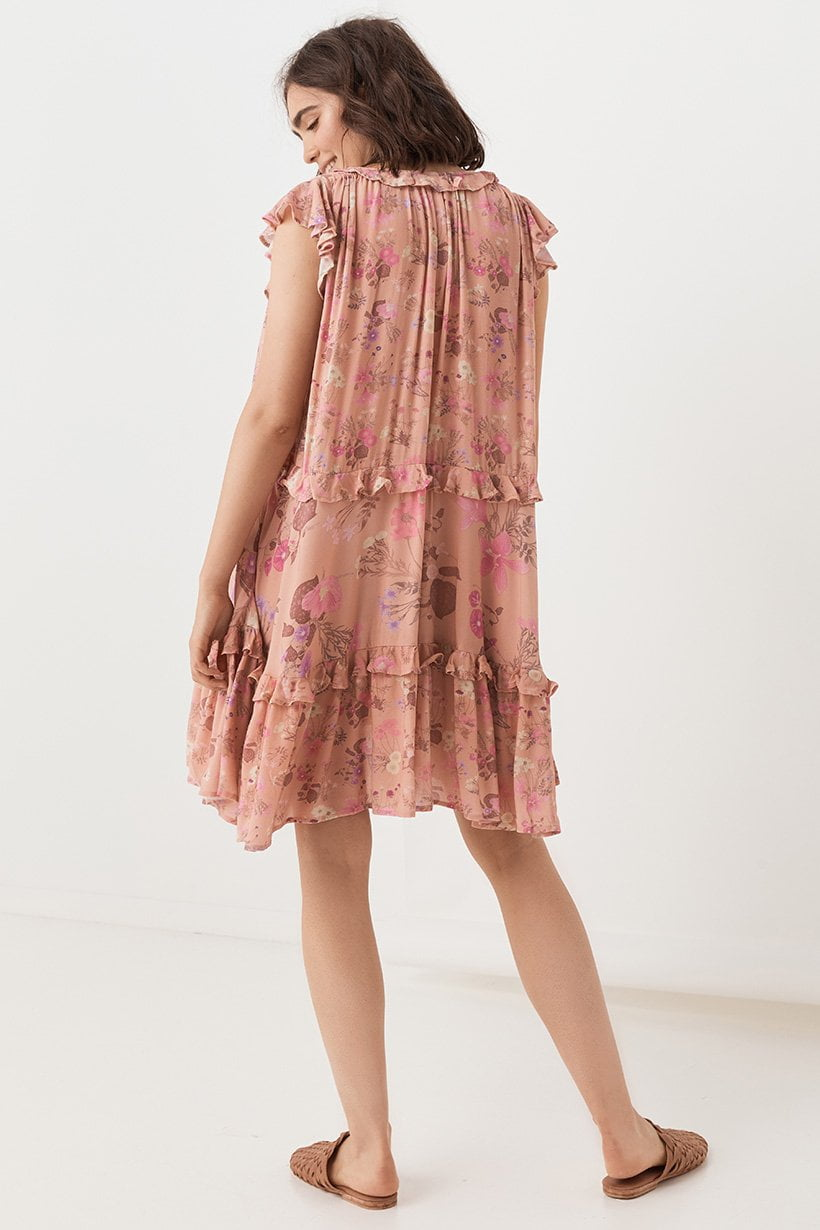 Spell Wild Bloom Mini Dress Blush