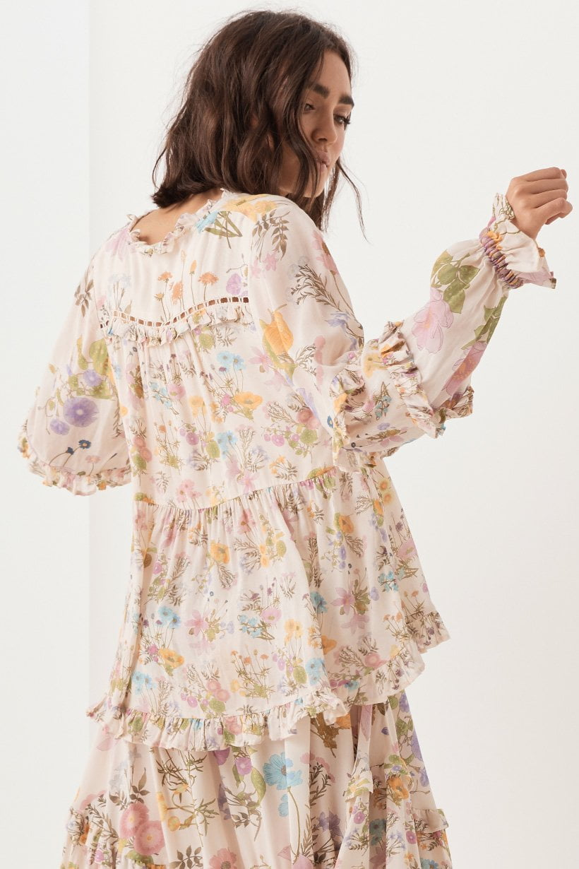 Spell Wild Bloom Blouse Cream