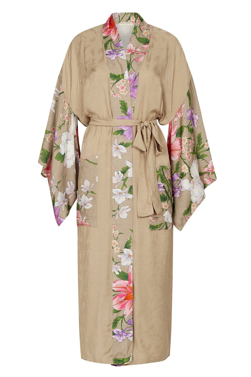 fd267a8b Spell Waterfall Maxi Robe Taupe Spell Waterfall Maxi Robe Taupe