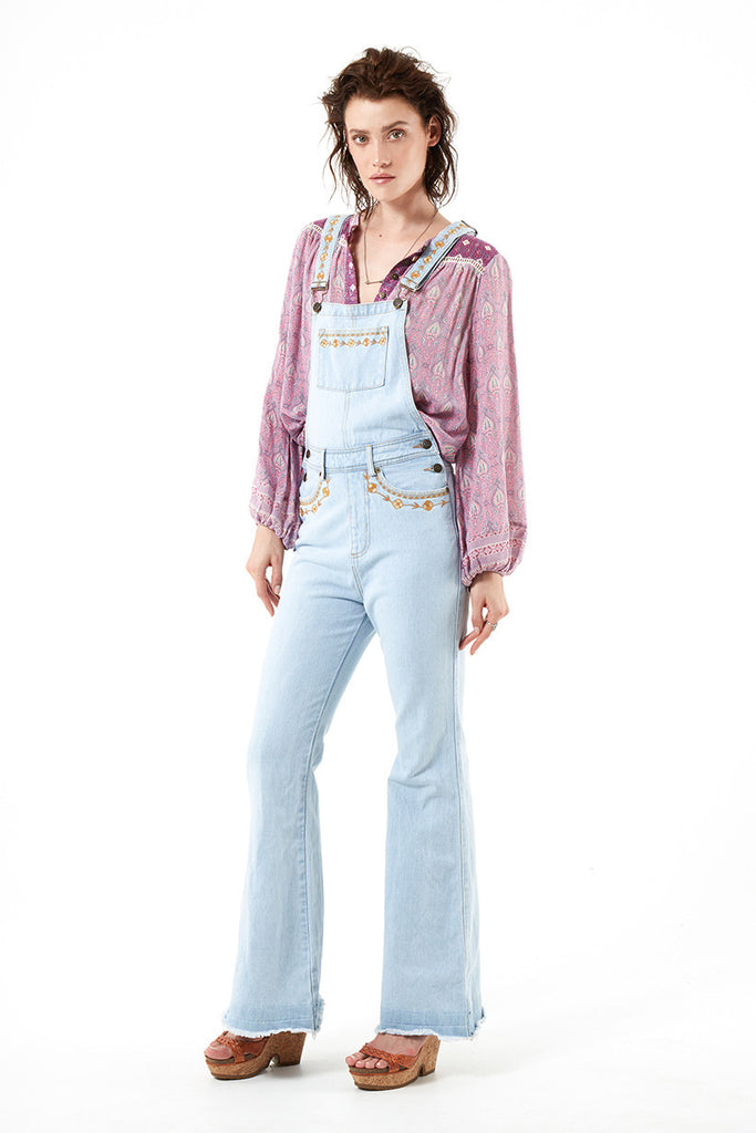 Spell Azalea Denim Overalls Vintage Blue - Call Me The Breeze - 9