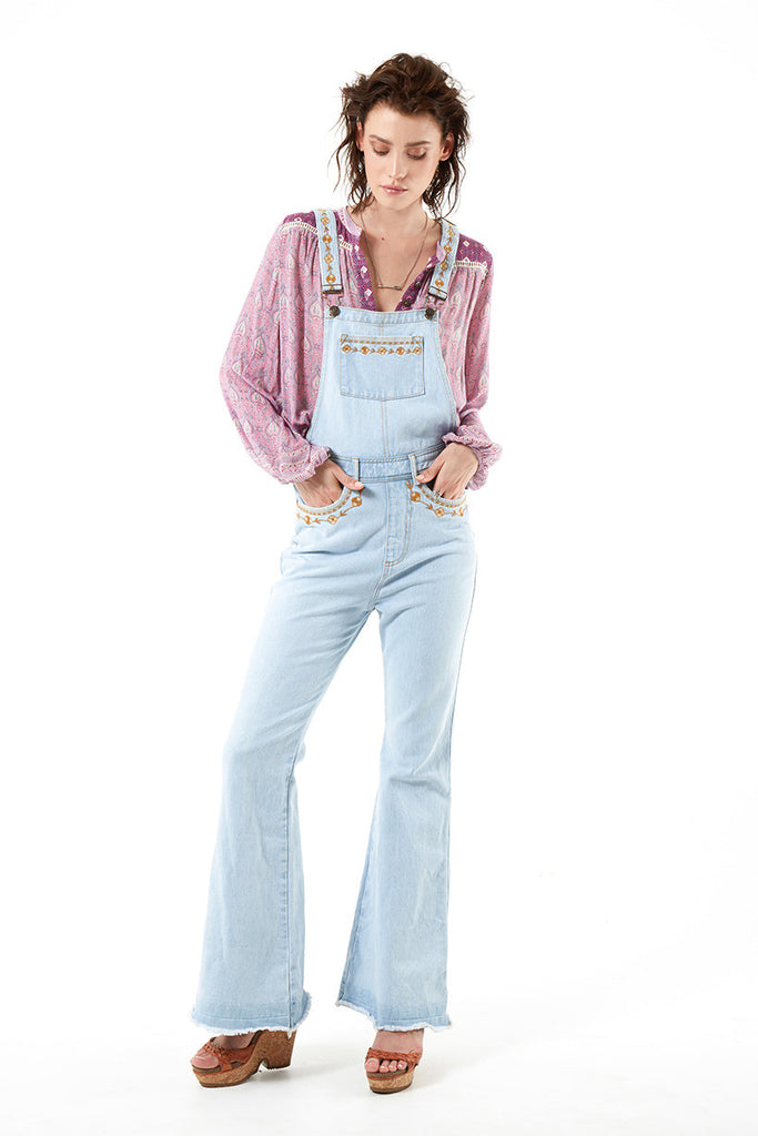 Spell Azalea Denim Overalls Vintage Blue - Call Me The Breeze - 10