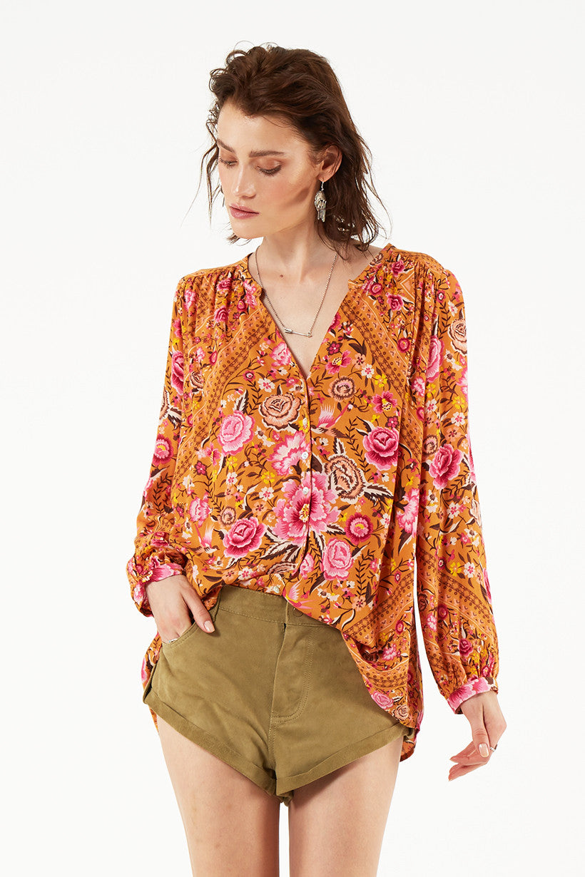 6fe17a67428bf5 Spell Babushka Blouse Amber - Call Me The Breeze - 1 ...