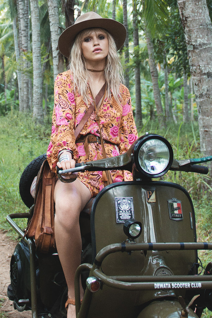 Spell Babushka Blouse Amber - Call Me The Breeze - 2