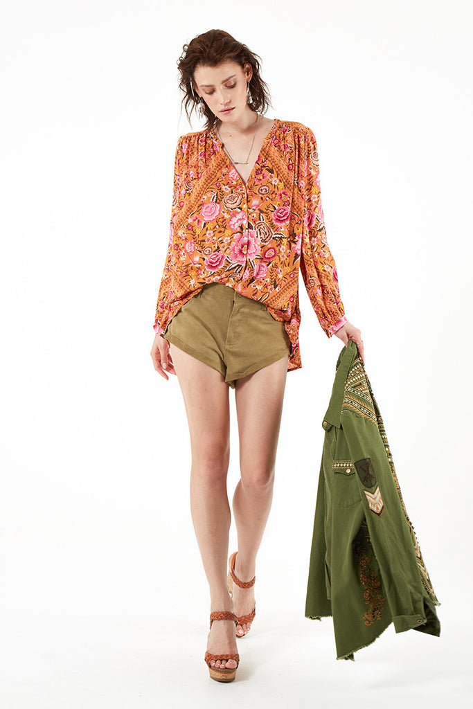 Spell Babushka Blouse Amber - Call Me The Breeze - 4