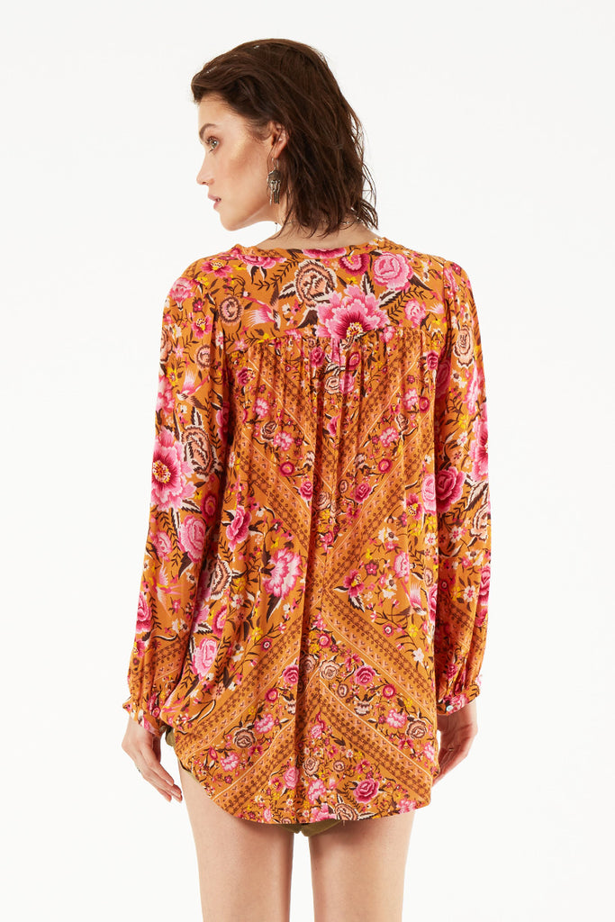 Spell Babushka Blouse Amber - Call Me The Breeze - 5
