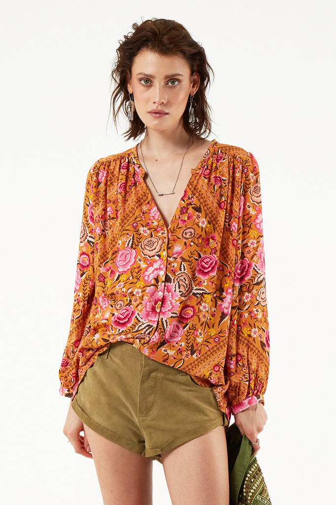 Spell Babushka Blouse Amber - Call Me The Breeze - 6