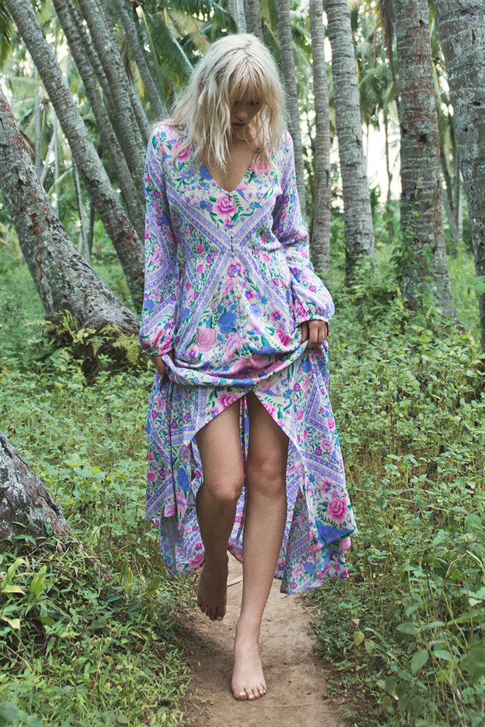 Spell Babushka Mary Kate Maxi Dress Lavender - Call Me The Breeze - 3