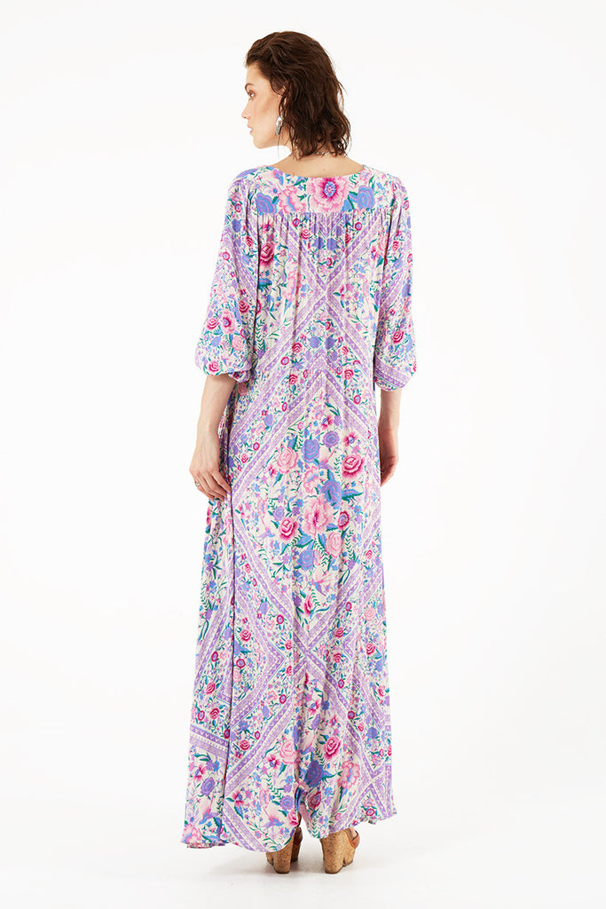 Spell Babushka Mary Kate Maxi Dress Lavender - Call Me The Breeze - 5