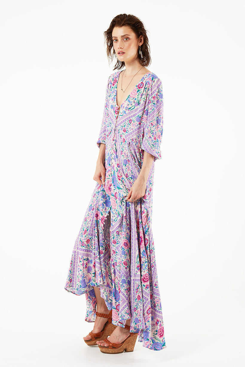 Spell Babushka Mary Kate Maxi Dress Lavender - Call Me The Breeze - 6