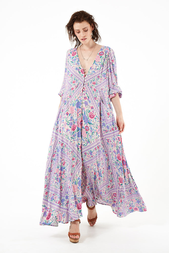 Spell Babushka Mary Kate Maxi Dress Lavender - Call Me The Breeze - 7