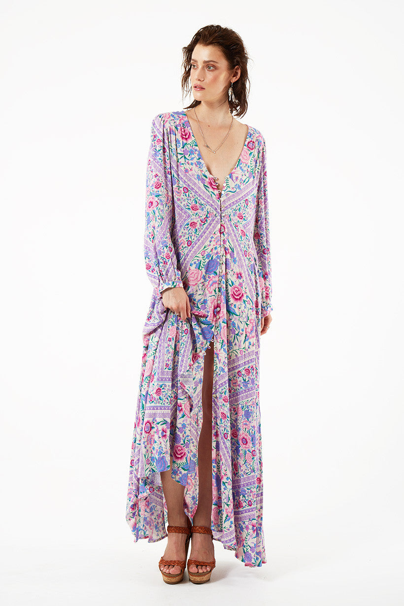 Spell Babushka Mary Kate Maxi Dress Lavender - Call Me The Breeze - 8