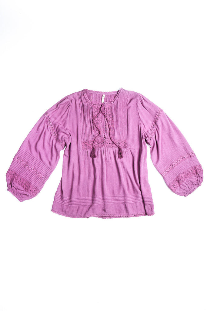 Spell Boho Bella Blouse Mauve - Call Me The Breeze - 3