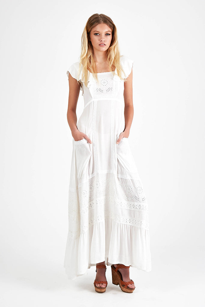 Spell Boho Bella Dress White - Call Me The Breeze - 3
