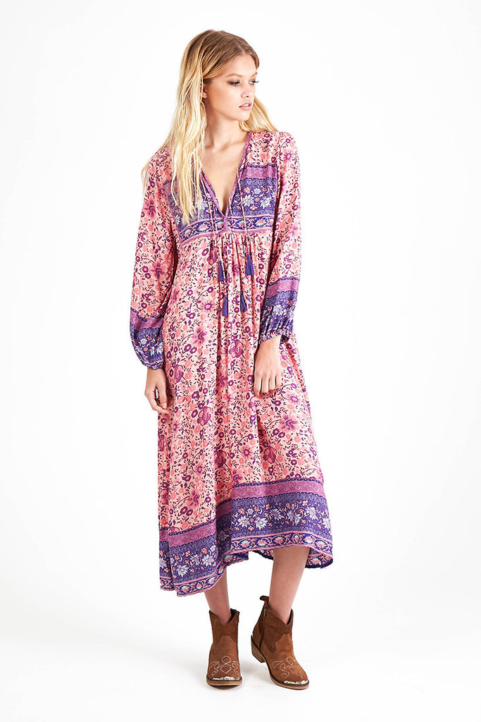 Spell Folk Town Boho Maxi Dress Blossom - Call Me The Breeze - 2