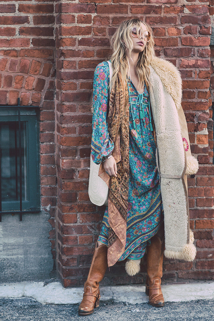 Spell Folk Town Boho Maxi Dress Turquoise - Call Me The Breeze - 3