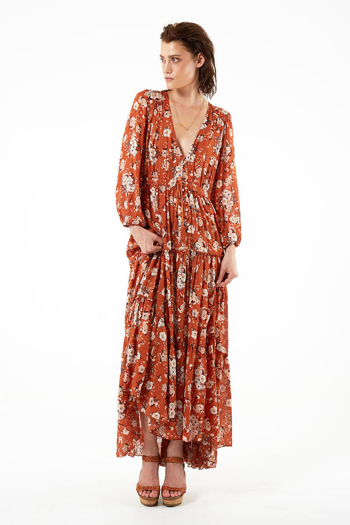 Spell Gypsy Dancer Gown Maple - Call Me The Breeze - 6