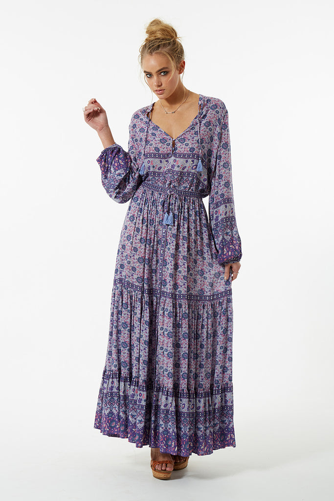 Spell Kombi Button Down Maxi Skirt Lavender - Call Me The Breeze - 3