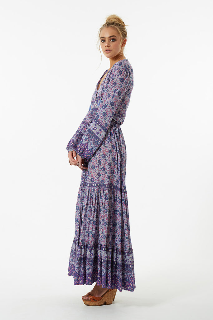 Spell Kombi Button Down Maxi Skirt Lavender - Call Me The Breeze - 4