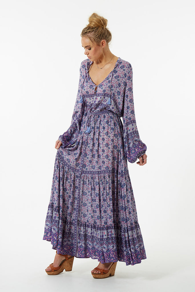 Spell Kombi Button Down Maxi Skirt Lavender - Call Me The Breeze - 5