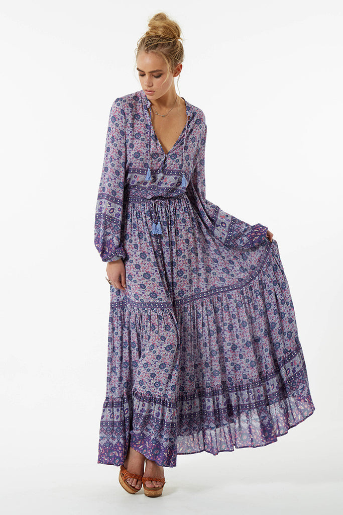 Spell Kombi Button Down Maxi Skirt Lavender - Call Me The Breeze - 7
