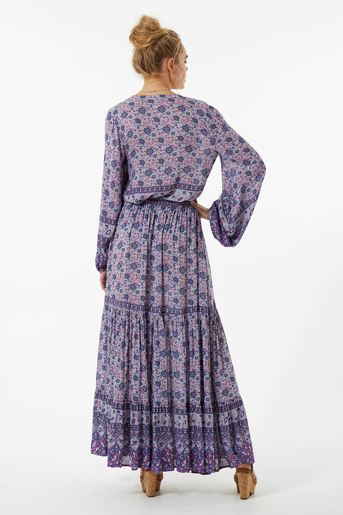 Spell Kombi Button Down Maxi Skirt Lavender - Call Me The Breeze - 8